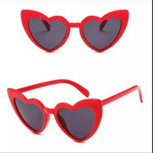 Retro Red Heart Shaped Sunglasses NWT